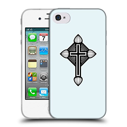 GoGoMobile Coque de Protection TPU Silicone Case pour // Q07940619 Christian Cross 19 Bulles // Apple iPhone 4 4S 4G