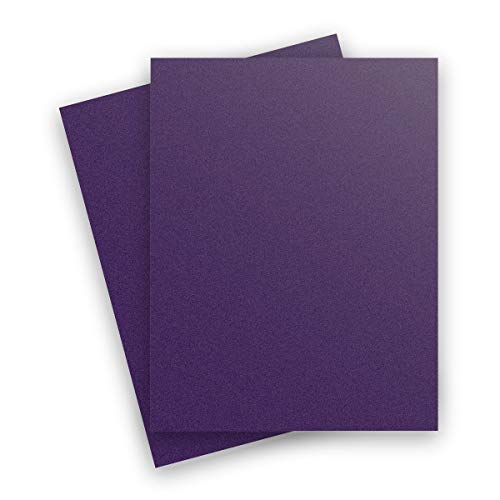 Metallic Deep Purple Violette 8-1/2-x-11 Lightweight 32T Multi-use Paper 50-pk - PaperPapers 118 GSM (32/80lb Text) Letter Size Everyday Paper - Professionals, Designers, Crafters and DIY - Cardstock Curious Paper Metallic