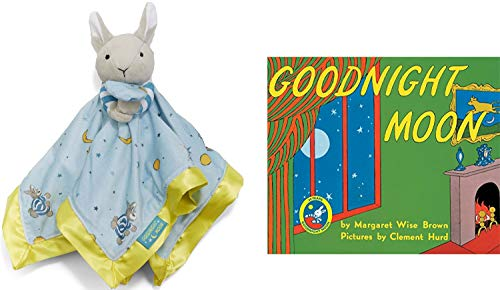 Goodnight Moon Bunny Plush & Goodnight Moon Paperback Book, Baby Gift Set (BlanketBunny)