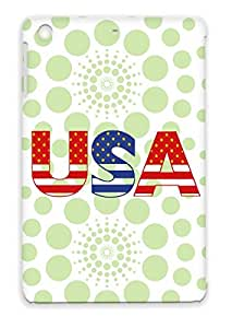 TPU Countries Flags Cities USA Protective Case For Ipad Mini Red Usa