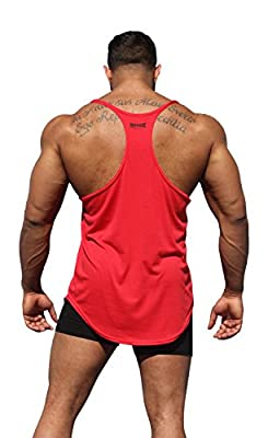 Physique Bodyware Original Mens Blank Y-Back Stringer Tank Top. Made in USA