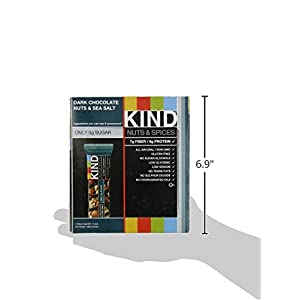 KIND Bars, Dark Chocolate Nuts & Sea Salt, Gluten Free, 1.4 Ounce Bars, 12 Count