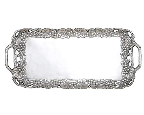 "Arthur Court Designs Aluminum Grape 21"" Serving Tray"