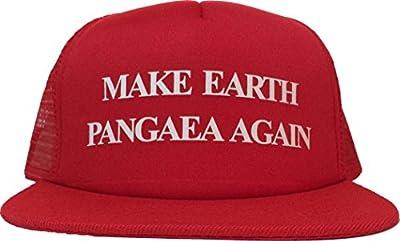 MAKE EARTH PANGAEA AGAIN Comfortable Hat Trump Parody Trucker Cap Make America Great Again