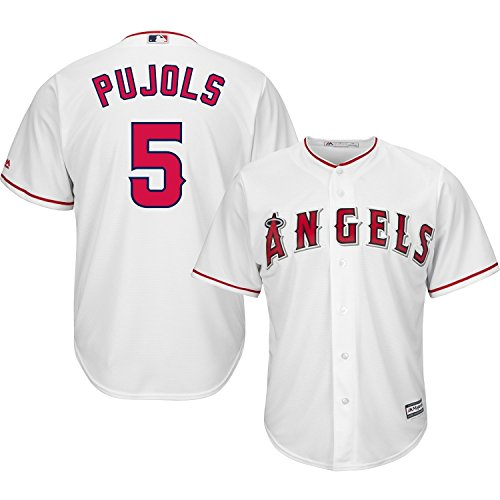Albert Pujols Los Angeles Angels of Anaheim #5 MLB Youth Cool Base Home Jersey (Youth Medium 10/12)