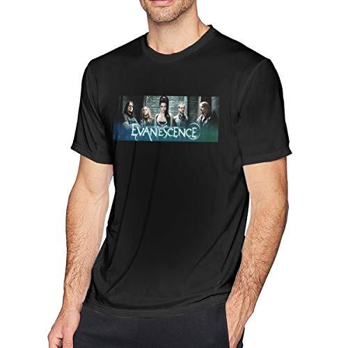 CGWIG Evanescence Rock Metal Band Fashion Men's T-Shirt Tops Short Sleeve Casual Tees Black -