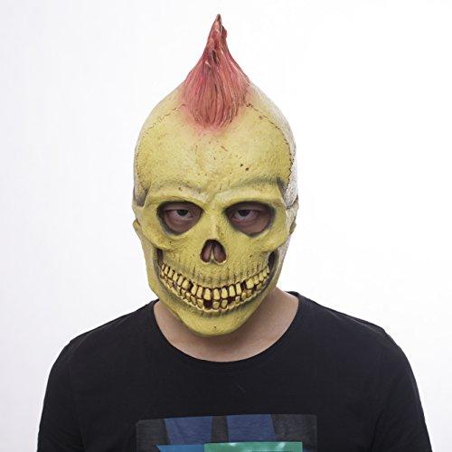 Waylike Novelty Halloween Skull Skeleton Rocker Punk Mask Latex Full Head Mask