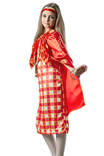 [Kids Girls African Princess Halloween Costume Lion Tamer Dress Up & Role Play (6-8 years, red, white,] (Halloween Costumes Ideas For Girls Age 12)