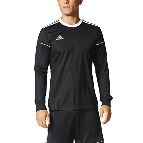 adidas Squadra 17 Long-Sleeve Jersey - Men's Soccer YL Black/White Adidas Climalite Long Sleeve Jersey