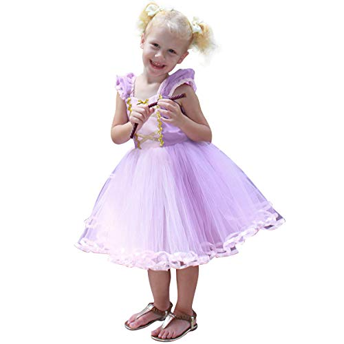 Princess Cinderella Snow White Aurora Rapunzel Little Mermaid Dress Costume for Baby Toddler Girl