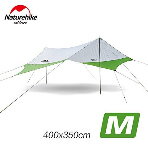 入射電子変な屋外Awnigビーチ大規模なキャンプのテントは日防水超軽量で高速400 * 350CM NH16T012-Sを構築シェルター