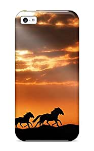 Premium [KZDrloX4308MpNnU]horses Case For Iphone 5c- Eco-friendly Packaging