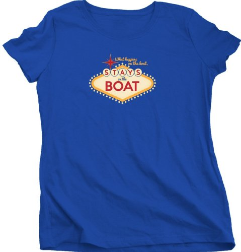 Ann Arbor T-shirt Co. Women's WHAT HAPPENS ON THE BOAT... Sailing T-Shirt