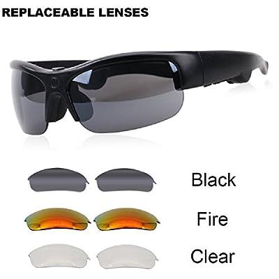 Bone Conduction Headphones,PAKASEPT Wireless Sun glasses with Bluetooth Sport Sunglasses Built in Speakers Handsfree Headset for iPhone Samsung Smartphones