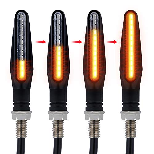 Led Motorcycle Turn Signals Indicator Amber Light Compatible with all
