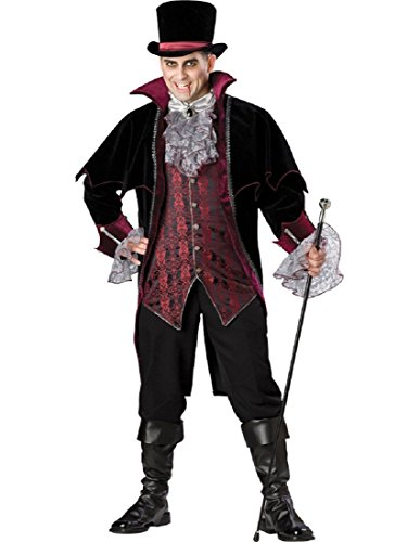InCharacter Costumes Men's Plus Size Vampire Of Versailles