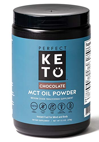 Perfect Keto MCT Oil C8 Powder, Coconut Medium Chain Triglycerides for Pure Clean Energy, Ketogenic Non Dairy Coffee Creamer, Bulk Supplement, Helps Boost Ketones