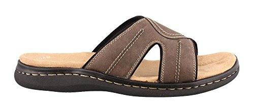 Dockers Men's Sunland Slide Dark Brown Synthetic Sandals 8 D(M) (Dark Slide)