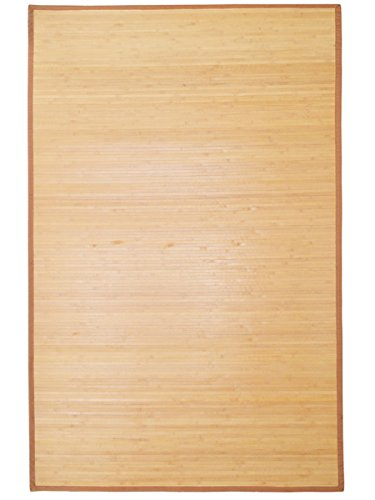 LTL Shop 5' x 8' Natural Bamboo Slat Area Rug Floor Carpet Mat w/ Backing Indoor Outdoor (San Furniture Repair Upholstery Diego)