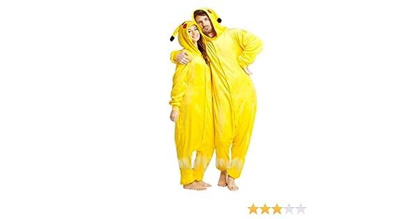 Carnaval de Halloween traje de los pijamas de Pokemon Pikachu adultos: Amazon.es: Juguetes y juegos