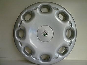 Juego de tapacubos 4 tapacubos diseño Renault Megane desde 2001 r 13 o r 15 () Logo cromado: Amazon.es: Coche y moto