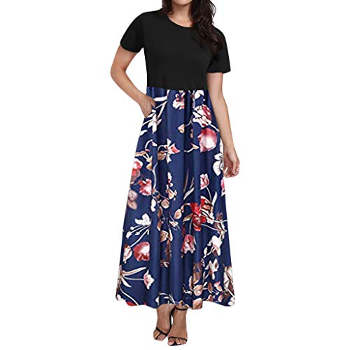 Orfilaly Women's Bobo Dresses Summer Floral Print Long