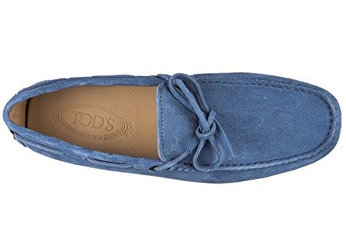 Tod's mocassins homme en daim laccetto gommini 122 blu