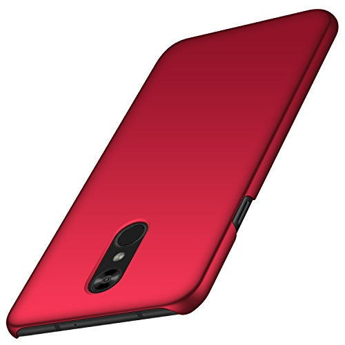 LG Stylo 4 Case, Arkour Minimalist Ultra Thin Slim Fit Cover with Smooth Matte Surface Hard Cases for LG Stylo 4 (2018) - Smooth Red