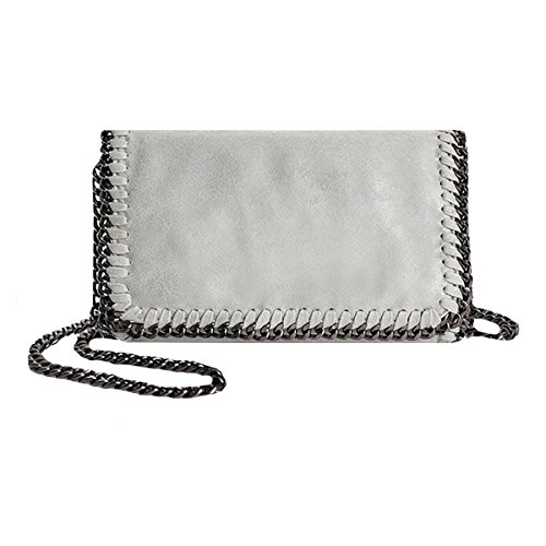 Women Chain Paillette Handbags Purse Hobo Hipster Foldover Tote Shoulder Crossbody Bag (Chain Handbag Hobo)