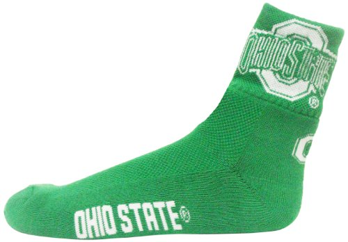 Donegal Bay NCAA Ohio State Buckeyes Men's Quarter Socks, Green/White