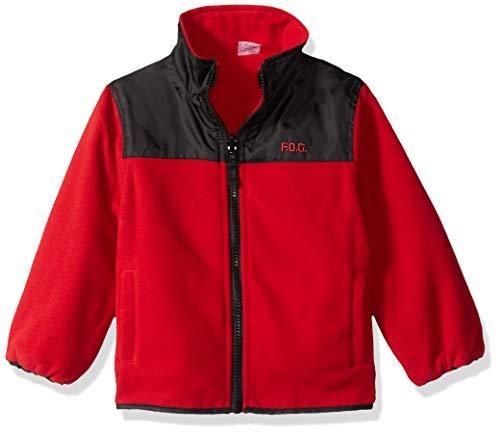 Red Reversible Fleece - London Fog Boys' Big Reversible Fleece-to-Poly Jacket, red, 10/12