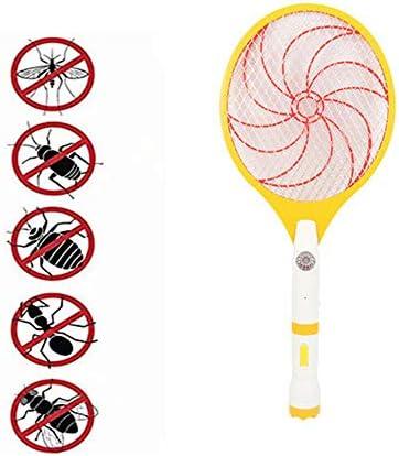 電気蚊ハエバグスワッターザッパーバットラケット、害虫昆虫駆除キラー忌避剤、LED照明二重層メッシュ保護
