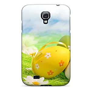 Galaxy S4 Case Slim [ultra Fit] Vector Flowers Beautiful Beauty Protective Case Cover