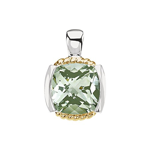 Jewels By Lux 14K Yellow Gold & 925 Sterling Silver Green Quartz Pendant