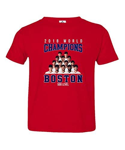 Boston Baseball 2018 World Champions Little Kids Unisex Toddler T-Shirt (Red, 3T)