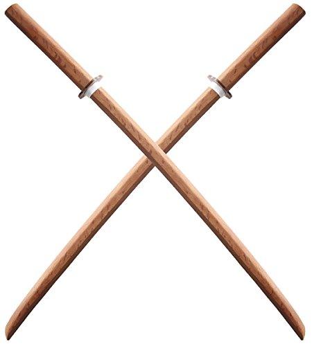 Repliksword Lot 2 Bokkens Kendo Haute Qualité Epee en Bois Entrainement Haut de Gamme Red Oak Wood Arts Martiaux Sabre en Bois Katana