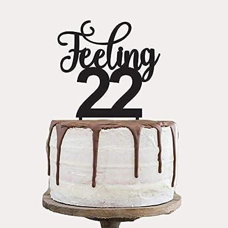 Feeling 22 - Decoración para tarta de cumpleaños: Amazon.es ...