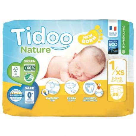 Pañales T1 Recién Nacido (2/5 kg) Tidoo, 26 unidades: Amazon.es ...
