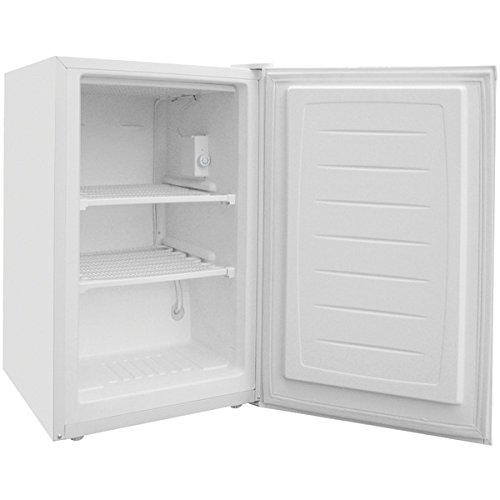 Magic Chef 3.0 cu ft Upright Freezer, White, Flush-back design saves space in your home or - Free Refrigerator Cf Frost