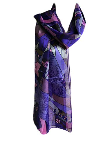 Purple Satin Stripe - New Company Womens Pablo Picasso Artist Painter Art Scarf Satin Stripe One Size (purple)