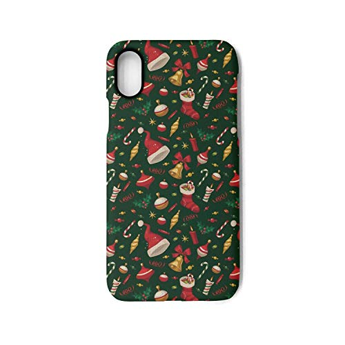 Dana Candle - iPhone X Case Christmas Candy Socks Candles Gift Elements Shock Proof Protection Anti-Scratch Anti-Finger for iPhone Xs case