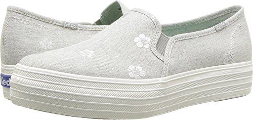 Shoe Keds Print (Keds Women's Triple Decker Cross Hatch Fashion Sneaker (7 B US, LT Gray))