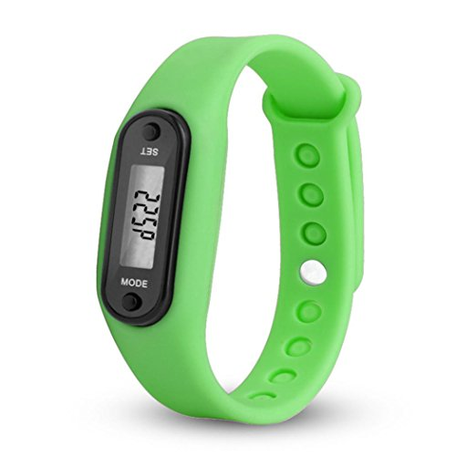 Kanzd Run Step Watch Bracelet pedometer calorie Counter Digital LCD Walking Distance (Green)