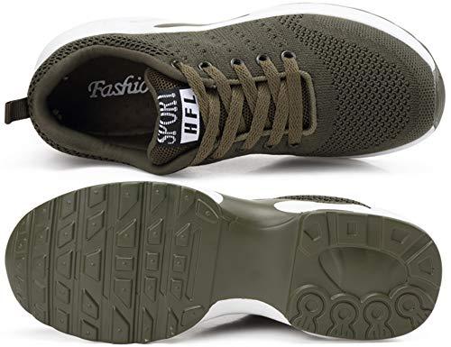 Transpirable Deportes y y Malla Asfalto Deportivas Correr GNEDIAE Zapatillas para Libre Running 002 Casuales Montaña de Zapatos Verde Mujer Senderismo Aire cv8BqATv