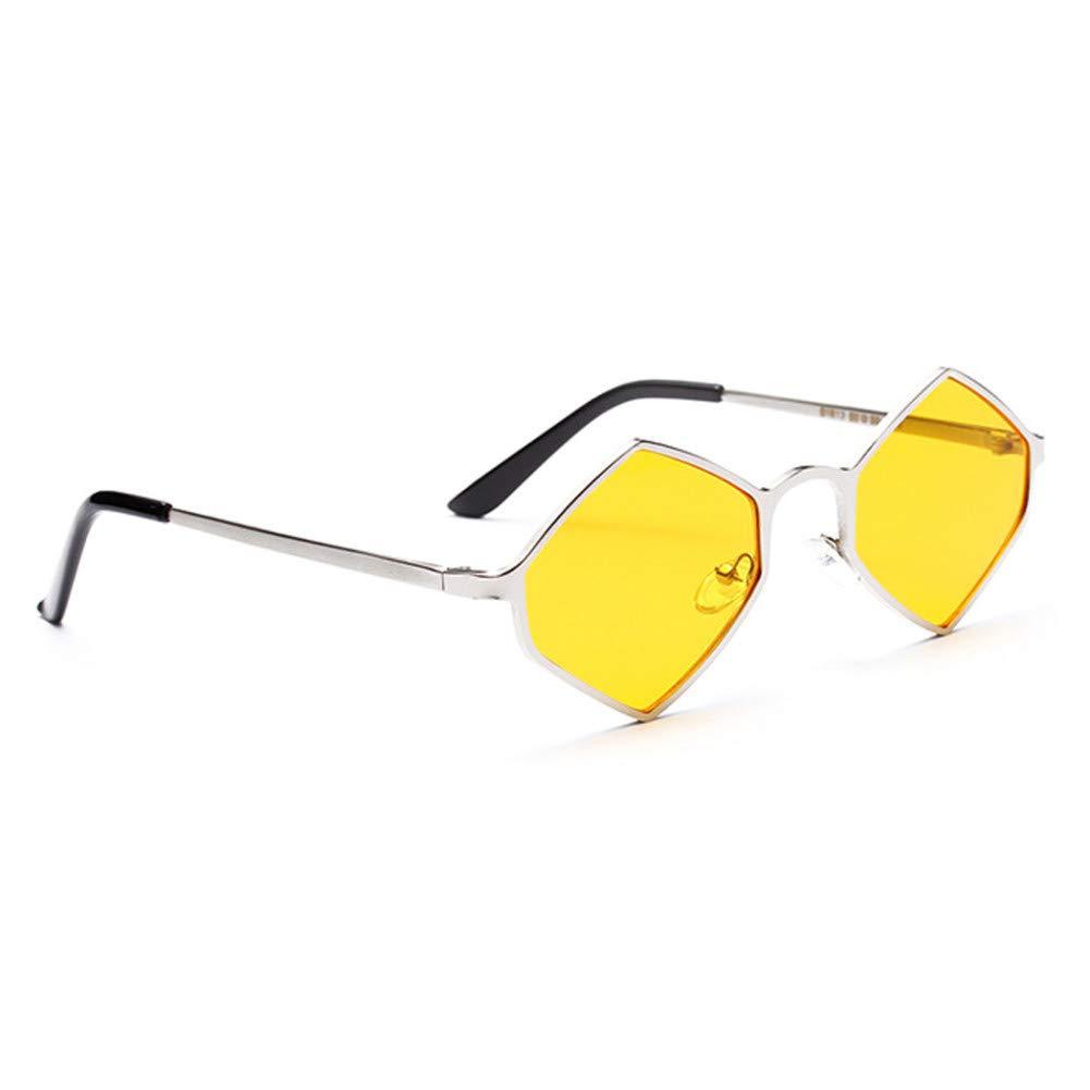 Divertidas gafas retro hexagonales hechas en policarbonato.