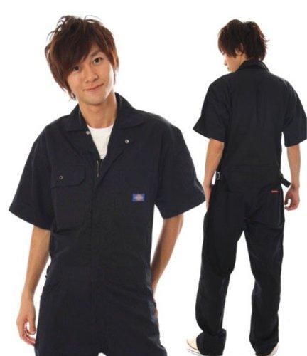 ディッキーズ Dickies (山田辰)夏用半袖 ツヅキ服 1012 ブラック Sサイズ B008FTV8MC S|ブラック