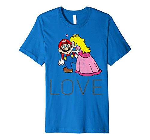 Super Mario Princess Peach Kiss Love Premium T-Shirt -