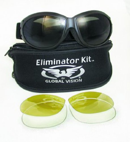 Eliminator Global Vision Kit #2 (3 Lenses – Smoke, Clear and Yellow Tint), Outdoor Stuffs