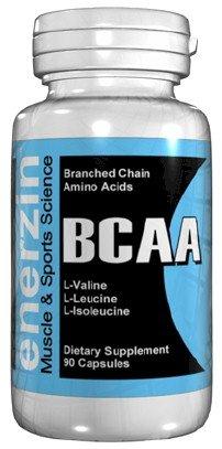 Enerzin BCAA - 90 gélules à chaîne ramifiée acides aminés L-valine L-Leucine Isoleucine