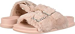 Faux Fur Slip-On Sandal